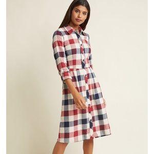 NWOT MODCLOTH Jam Girl Shirt dress